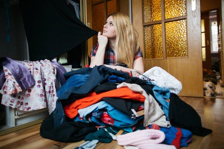 Rozstanie z ubraniami, okazało się najtrudniejszym etapem sprzątania.