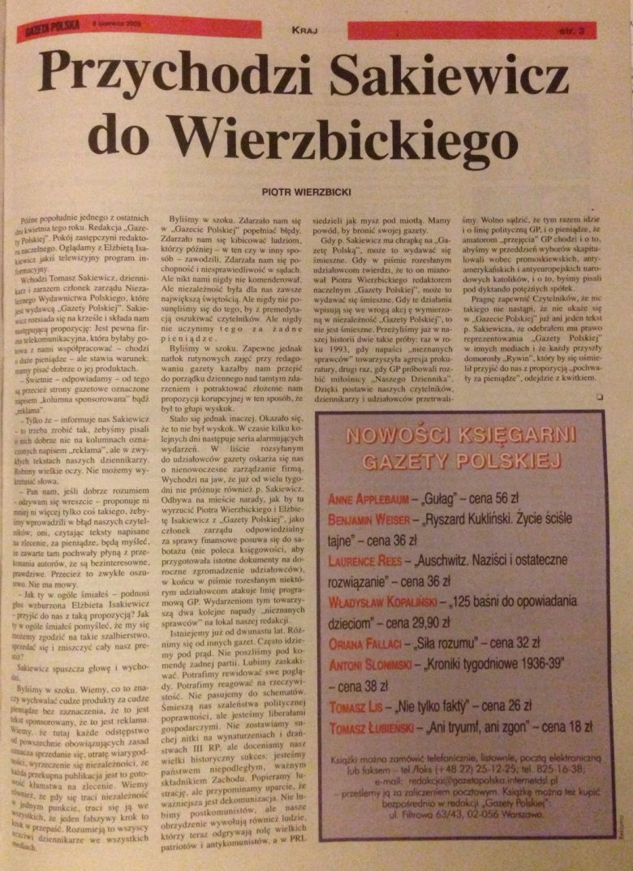 """Oryginalne wydanie """"Gazety Polskiej"""", które nie trafiło do kiosków."""