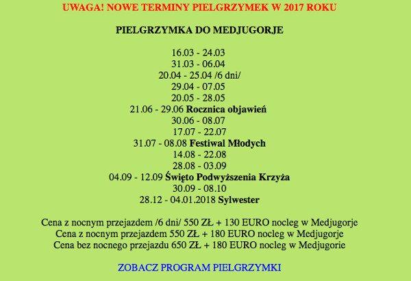 Autokary z Polski do Medjugorje kursują raz po raz.