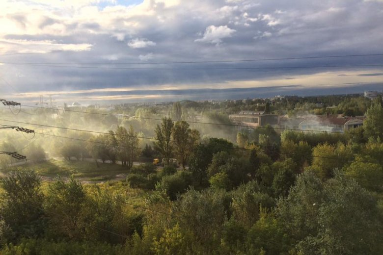 """Na warszawskiej Woli już trudniej się oddycha. A sezon """"smogowy"""" dopiero się zaczyna."""