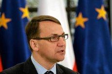 Były minister spraw zagranicznych Radosław Sikorski
