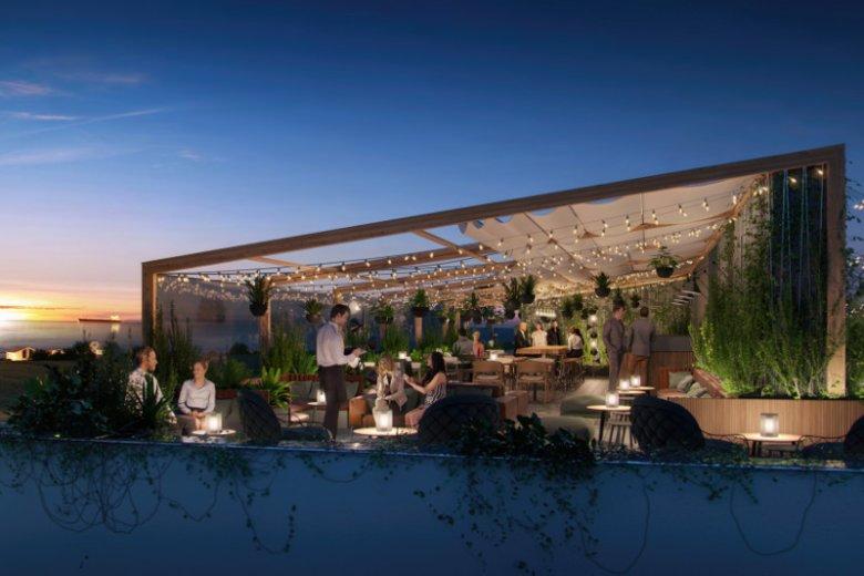 Wizualizacja restauracji w Hotelu Anchoria