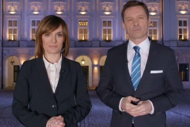 Dorota Gawryluk i Krzysztof Ziemiec w zwiastunie debaty wyborczej w TVP i Polsacie