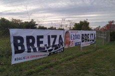 Ktoś na Pomorzu niszczy banery polityków Koalicji Obywatelskiej.