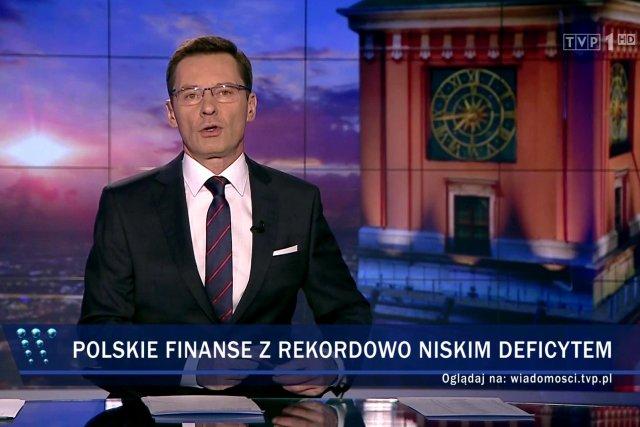"""W """"Wiadomościach"""" na przekór wszystkim poinformowano nas, że polski deficyt jest bardzo niski."""