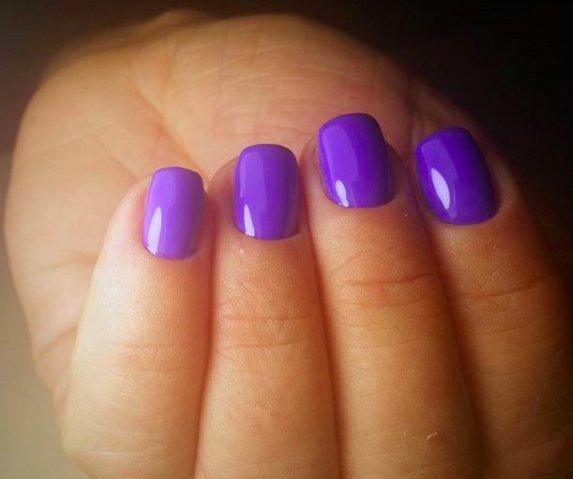 Żel + hybryda na krótkich paznokciach