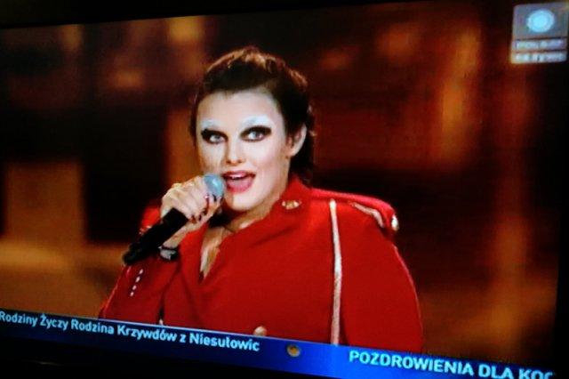 Ewa Farna podczas Sylwestra z Polsatem.