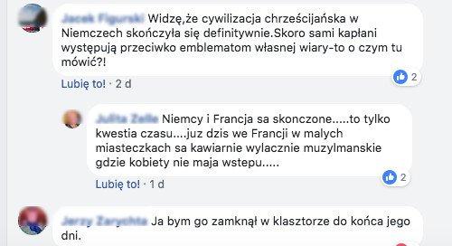 Komentarze internautów.