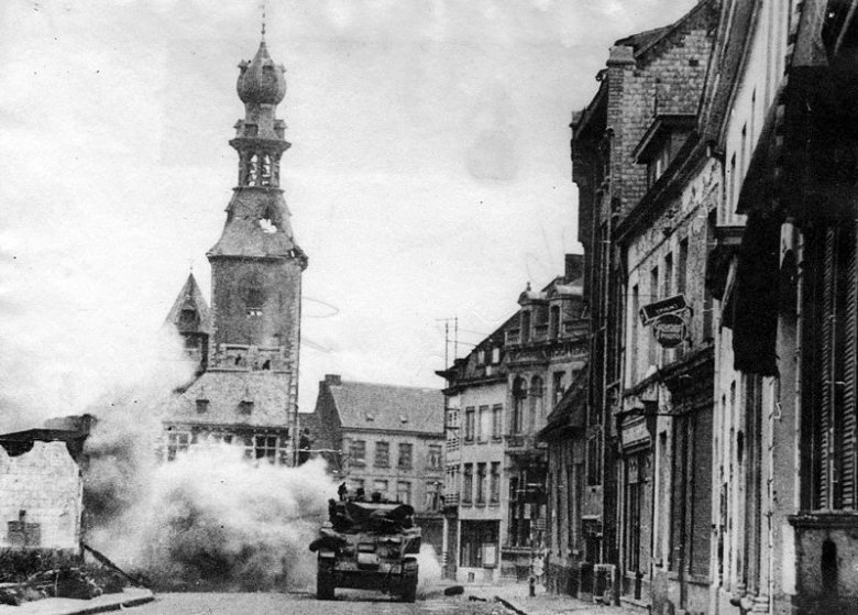 Walki uliczne w Tielt.