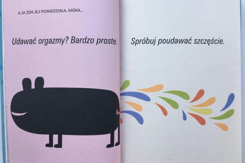 Zarówno w krótkiej formie jak i w dłuższych tekstach, które po nich następują, Nosowska trafia w punkt.