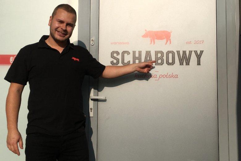 """Mateusz Suchecki to szef kuchni restauracji """"Schabowy""""."""