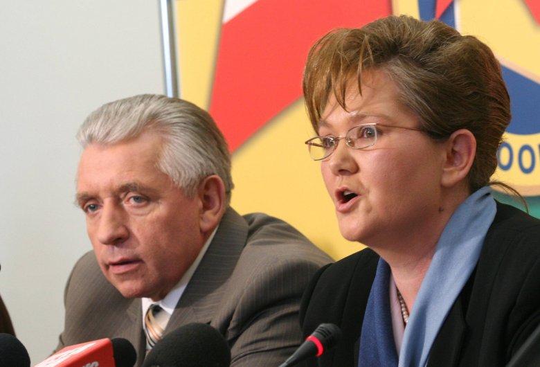 Anna Kalata przed metamorfozą w towarzystwie Andrzeja Leppera.