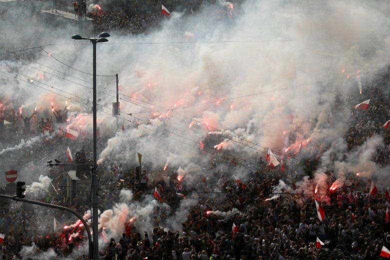 Marsz Powstania Warszawskiego został przerwany przez Hannę Gronkiewicz-Waltz.