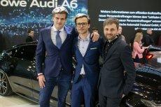 Od lewej Kamil Łabanowicz, Bogusław Paruch i Parys Cybulski. Cała trójka to styliści na co dzień pracujący w Audi.