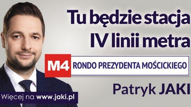 Projekt nowego billboardu Patryka Jakiego.
