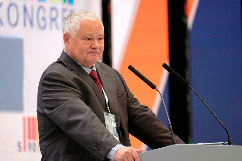 Adam Glapiński, prezes NBP i założyciel fundacji im. Sławomira Skrzypka podczas III edycji Kongresu 590 w Jasionce pod Rzeszowem