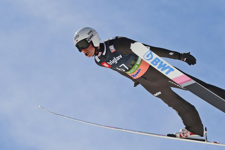 Piotr Żyła zajął trzecie miejsce w lotach narciarskich w Planicy.