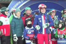 Andrzej Duda na nartach. Prezydent pojawił się w Zakopanem w szczytnym celu.