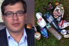 Jacek Karnowski umie ocenić kto śmieci w parkach. Wystarczą mu tylko puszki po piwie.