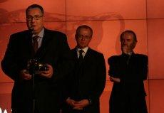 """Ireneusz Król, prezes Ideon SA, podczas rozdania nagród Gazety Parkiet. W 2008 roku otrzymał tytuł """"Prezesa Roku""""."""