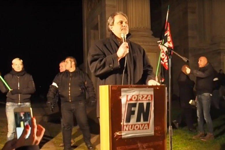 """Roberto Fiore, włoski neofaszysta, będzie jednym z uczestników """"Marszu Niepodległości"""" w Warszawie."""