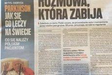 """Polecając artykuły dotyczące choroby Parkinsona, """"Gazeta Wyborcza"""" sięgnęła po wizerunek św. Jana Pawła II"""