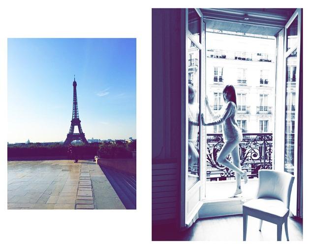 Sylwia na sesji zdjęciowej w Paryżu