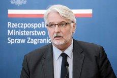 Minister spraw zagranicznych Witold Waszczykowski jest zaskoczony tym, że USA wezwały rząd PiS do przestrzegania Konstytucji.