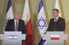 Izraelskie media piszą o wypowiedzi prezydenta Riwlina. Miał powiedzieć o kolaboracji Polaków z nazistowskimi Niemcami.