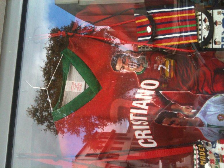 Tandetna koszulka z podobizną Ronaldo