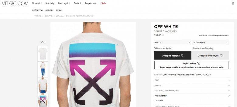 Robert Lewandowski. Buty Nike Air Presto x Off White