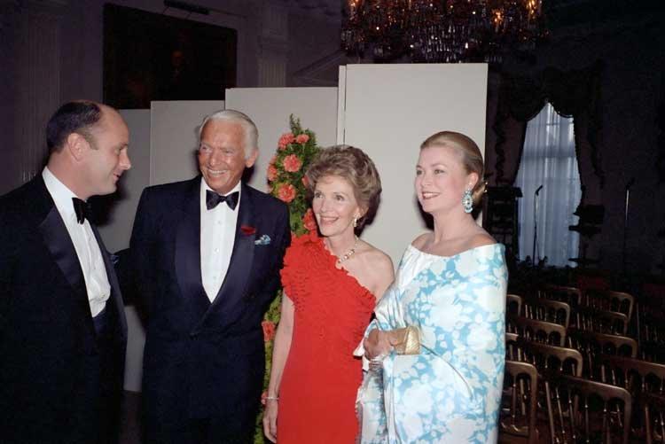 Z Nancy Reagan rok przed tragiczną śmiercią.
