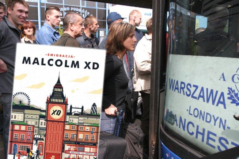 """""""Emigracja"""" to książkowy debiut Malcolma XD - internetowego twórcy znanego z pasty o ojcu, fanatyku wędkarstwa"""