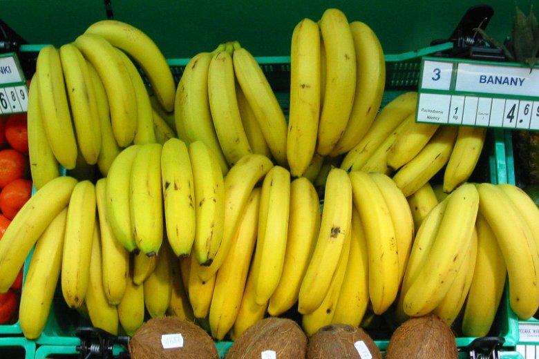 Banany zawierają dużo potasu.