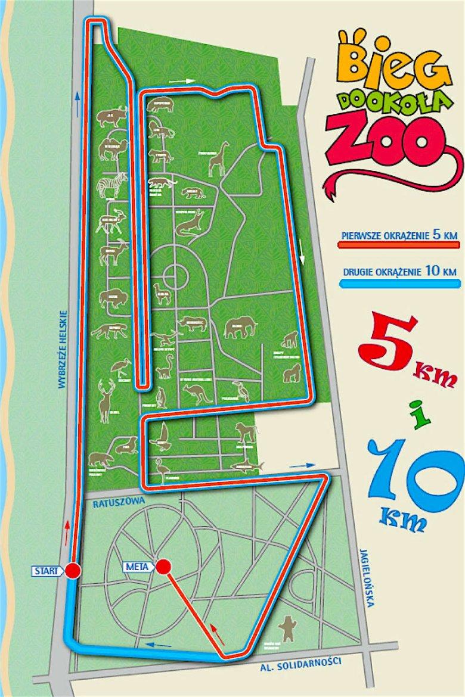 Mapka z trasą biegu