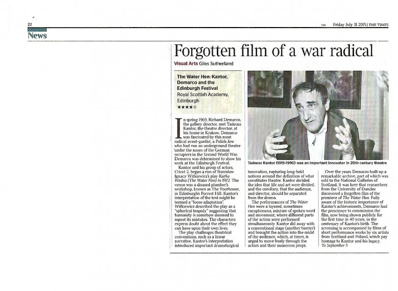 Review in The Times by Giles Sutherland