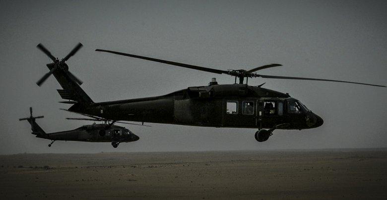 Lot helikopterem z administratorem Iraku, Paulem Bremerem.
