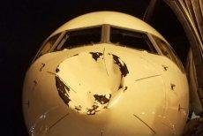 Samolot z takimi uszkodzeniami szczęśliwie wylądował.
