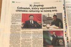 """Chiny reklamują swojego przywódcę w """"Rzeczpospolitej""""."""