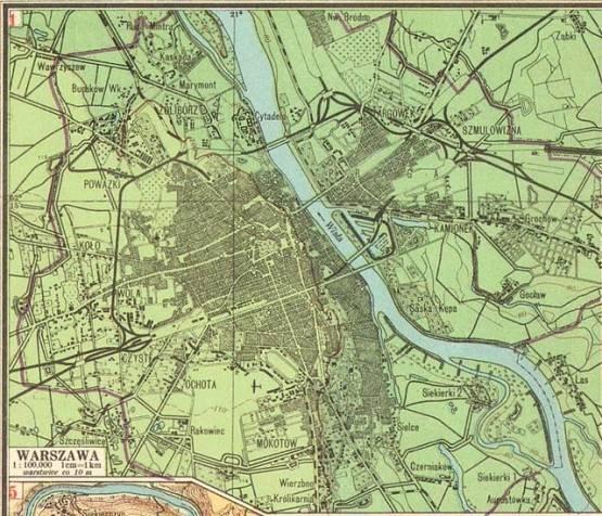 Plan Warszawy z 1929 roku