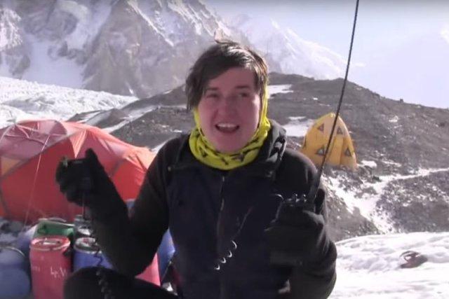 Agnieszka Bielecka podczas wyprawy na Gasherbrum I 2011/2012.