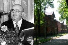Po lewej Wilhem Szewczyk - poeta ze Śląska, a po prawej dom w którym mieszkał w Czerwionce.