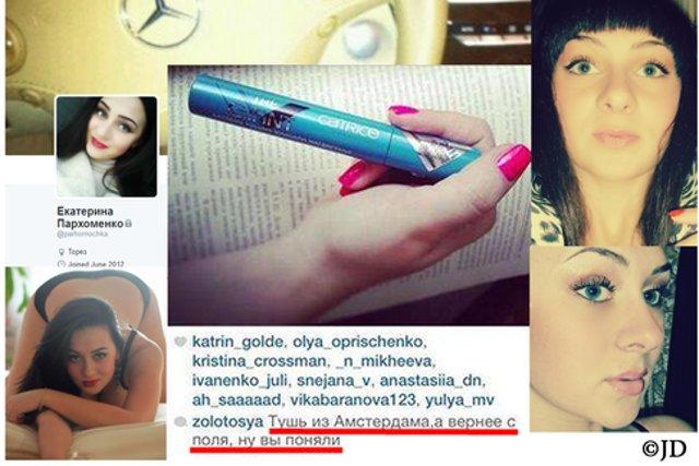 """Jekatierina Parhomenko chwaliła się w internecie """"maskarą z Amsterdamu"""""""
