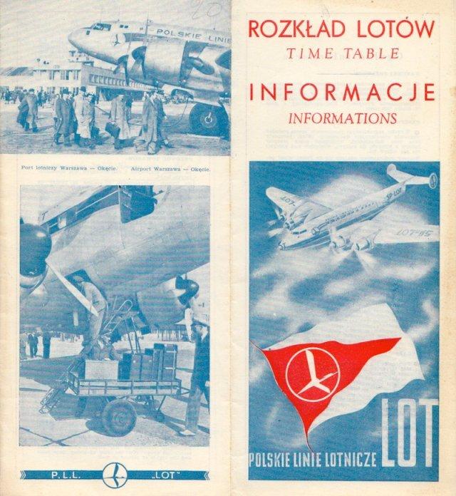 Rozkład lotów PLL LOT, sezon jesień - zima 1947/1948