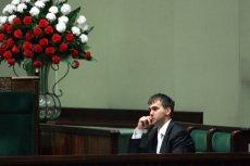 Błażej Spychalski – zdjęcie z 2009 r., gdy polityk PiS stał na czele inicjatywy wprowadzenia wyższych ulg komunikacyjnych dla studentów.